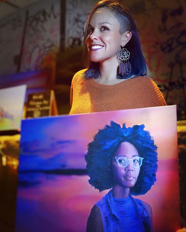 One of the paintings I'm most proud of is the one where I failed the hardest. ⁣ ⁣ But let's rewind first: I couldn't wait to paint my badass friend and soul sister @Cat.Lantigua. I knew early on that I wanted to tell her story with my art. She's a proud and brilliant Afro-Latina 🇩🇴 , unyielding dreamer and doer 💫, passionate activist ✊🏽, podcast host of Chats with Cat,—I mean, this girl is a TOTAL powerhouse. ⁣ ⁣ So after channeling the joy of our connection (most likely remembering convos about spirituality over big plates of samosas 😋), I was pumped to start painting💪🏽⁣ ⁣ Fast forward hours later: I'm slumped over my sketchbook, staring blankly at my canvas which I've painted over AT LEAST 6x. I'm starting to sweat. I've done several sketches of face studies and I still can't get it right 😩 cue the gremlin talk 👹🗣. I kept saying to myself that I can't get this wrong because I gotta do Cat justice. ⁣ ⁣ Eventually I took a breath and it hit me—I'm already doing it wrong 🤦🏻‍♀️ Not because I couldn't capture her features. But because I was beating myself up about it.⁣ ⁣ Instead, I decided to show myself the same compassion she'd offer me if she were right there with me. I stepped back for reflection, approached my canvas with a new outlook and leaned in 🌱 And that's actually how I did her portrait justice. Because in showing myself kindness, I honored her and all she does to empower her community. 👯‍♀️👯‍♀️👯‍♀️⁣ ⁣ 📸Photo cred: @faulestyle, thanks for the capture and asking about my muses! ⁣ ⁣ #myart #artistlife #girlswhopaint #painting #miamiartist #latinaartist #weareoutlatinas #artactivism #travelwomen #artistsoninstagram #adventurethatislife #darlingescapes #bebrave #empoweredwomen #girlsborntotravel #girlsgoneglobal #knowyourworth #anxietywarrior #beyourself #femaleartist #insearchofjoy #effperfect #travellikeagirl #girlsthatwander #thetravelwomen #andshesdopetoo #mytravels #sheloveswandering #sheisnotlost #believeinyourdreams ⁣ ⁣