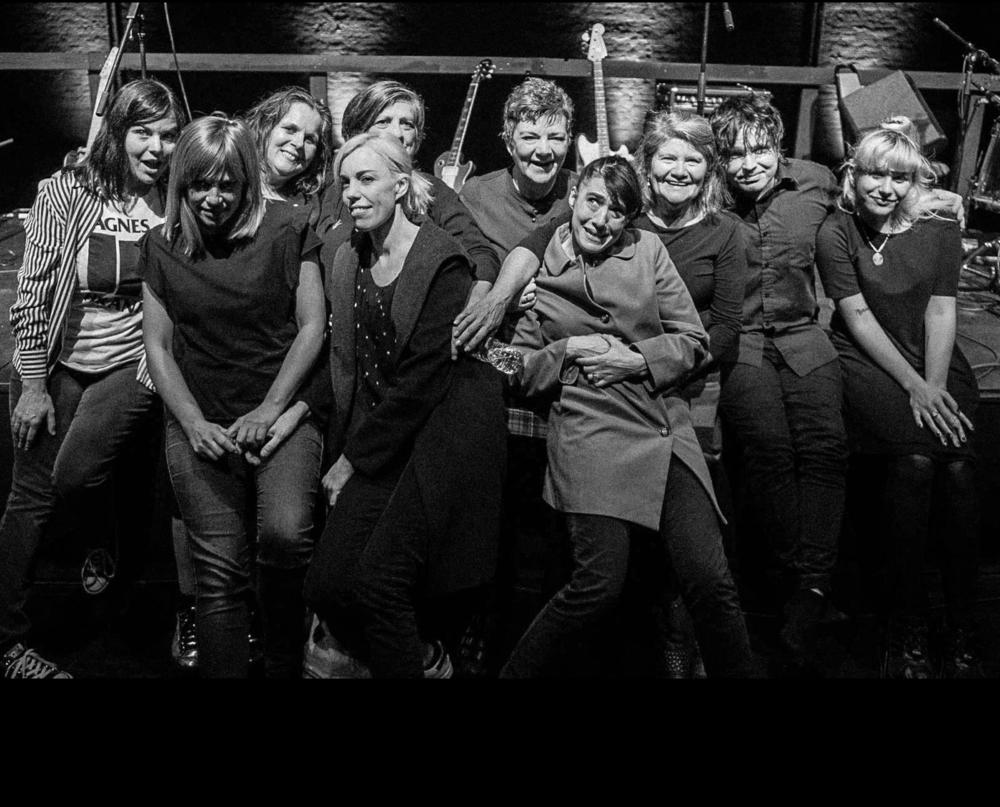 Bikini Kill reunited as guests at The Raincoats' show at The Kitchen last night