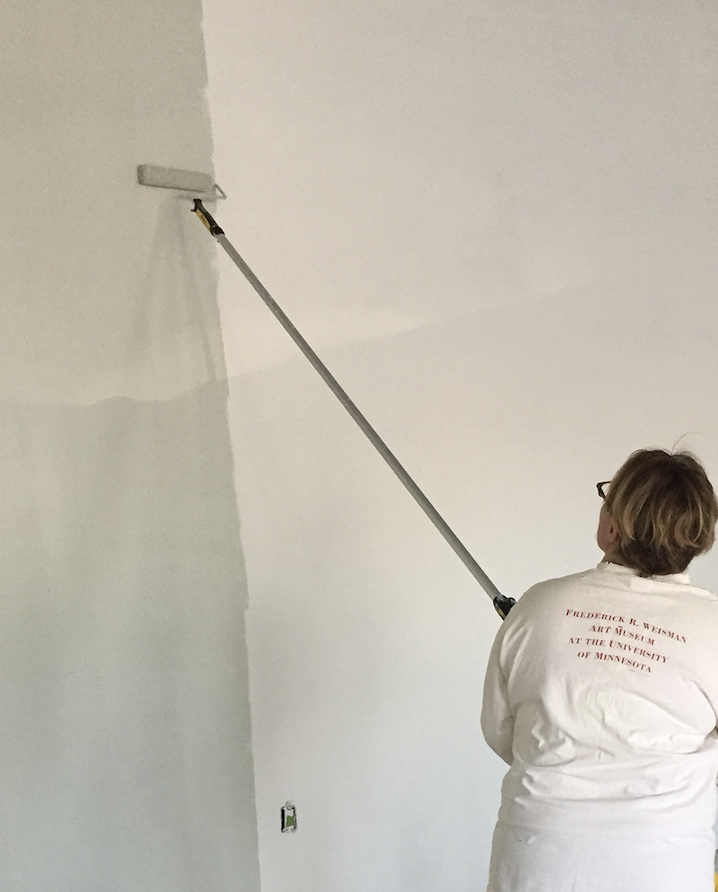 Board Member Sara painting Studio 1