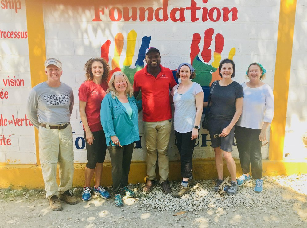 The 2018 Haiti mission team with Bildad Michel, director of operations for The Joseph School.
