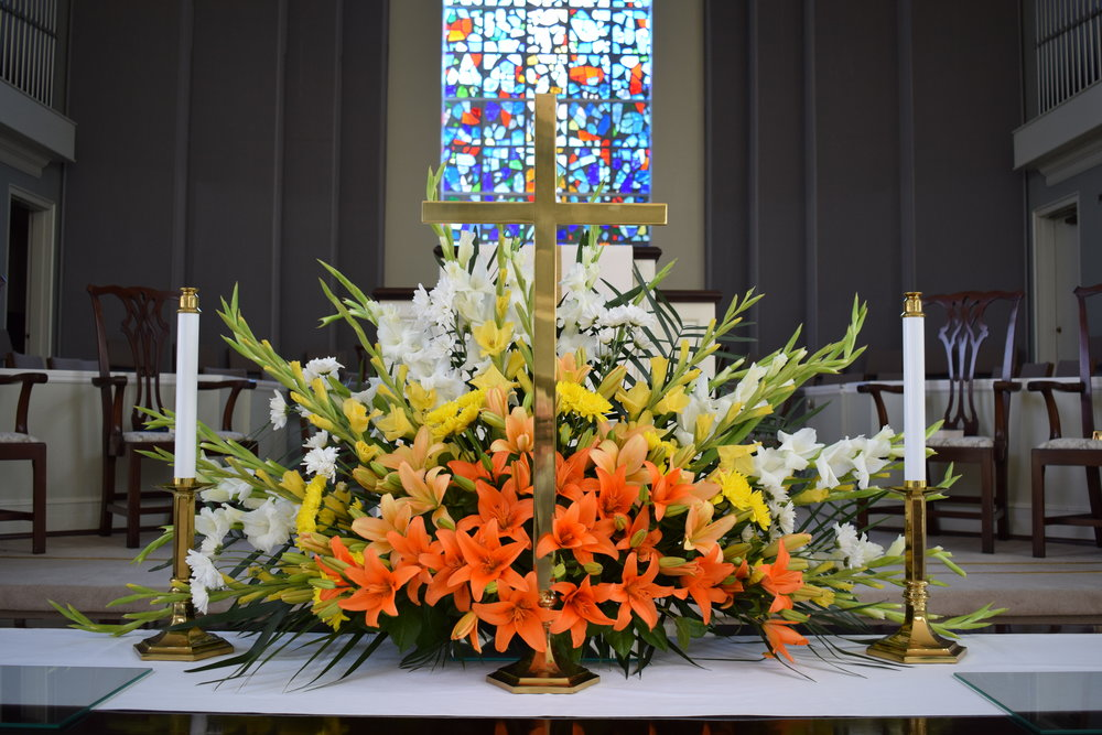 The altar on Easter Sunday