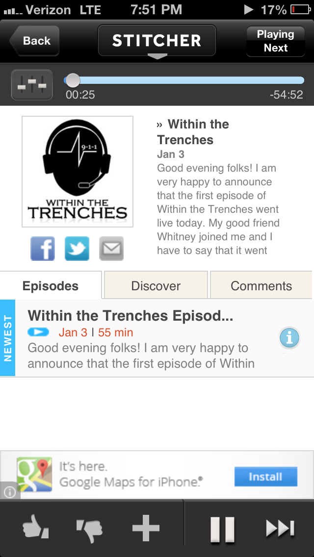 Within the Trenches on Stitcher