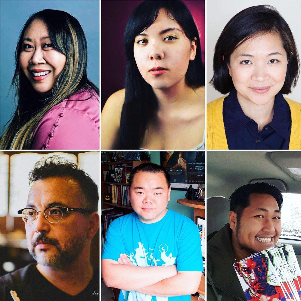 Our storytellers:  Davine Ker, Elizabeth Ung, Kim Sou, Kevin Griffin Moreno, and Chann Sou.