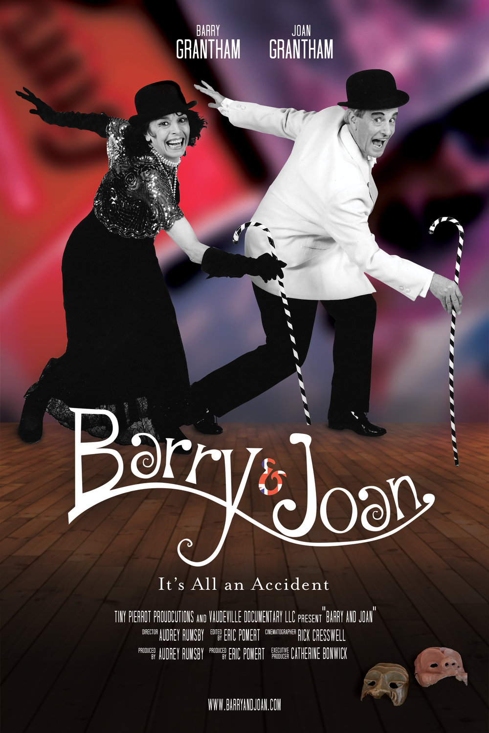 Theatrical one-sheet for BARRY & JOAN.  Photo courtesy of Vaudeville Documentary LLC.