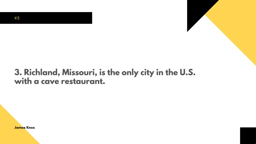 #1 Fact About Missouri