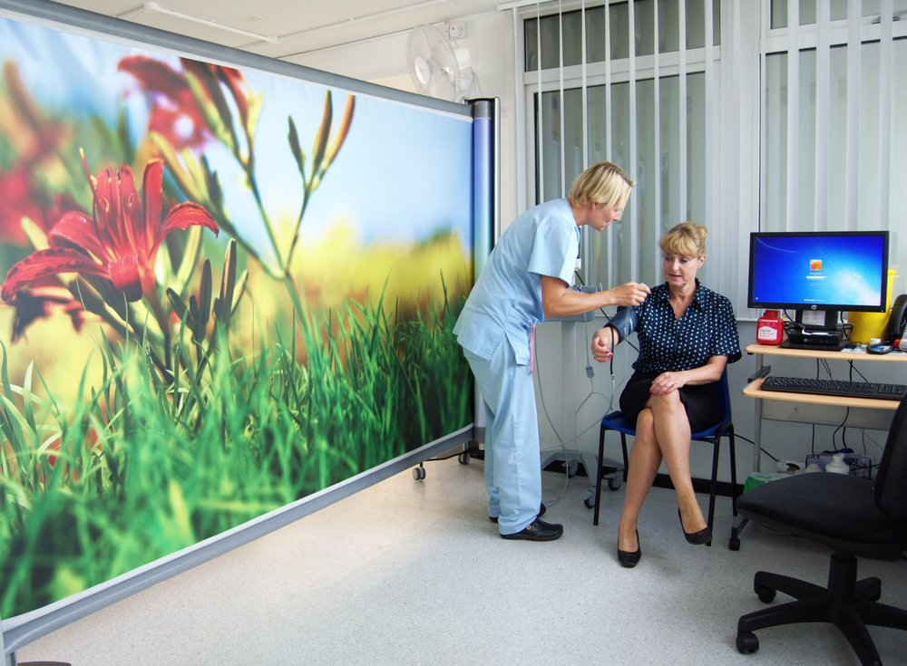 KwickScreen Pro Medical Partition Screen at St Peter's Hospital Curtain replacement
