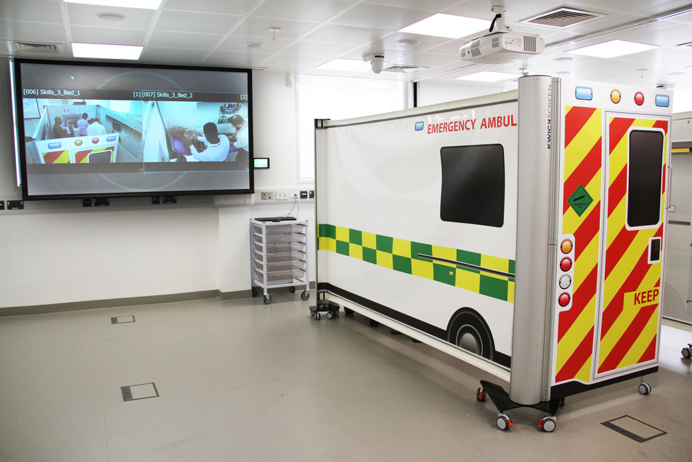 KwickScreen simbulance medical simulation training
