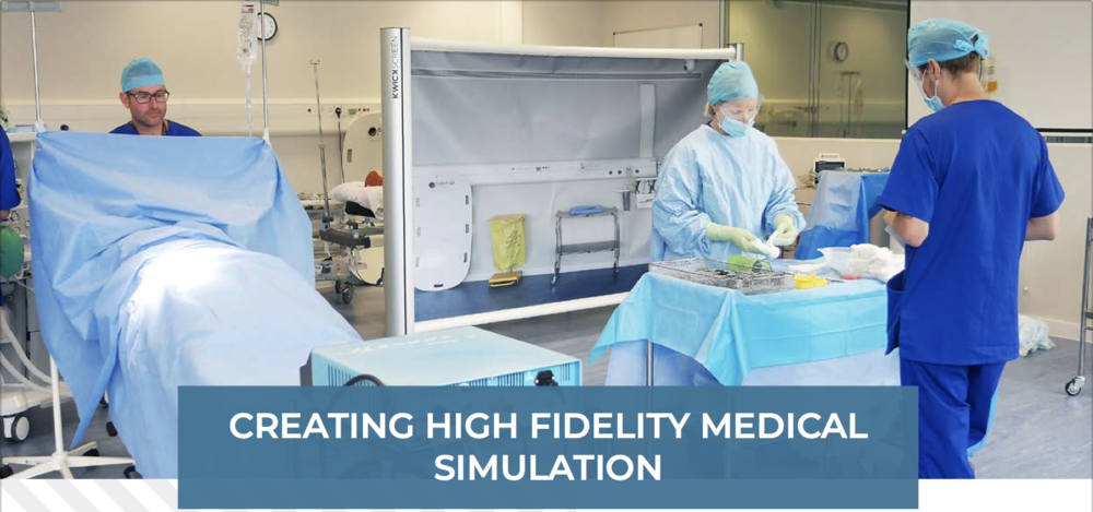 KwickScreen creating high fidelity medical simulation training environments