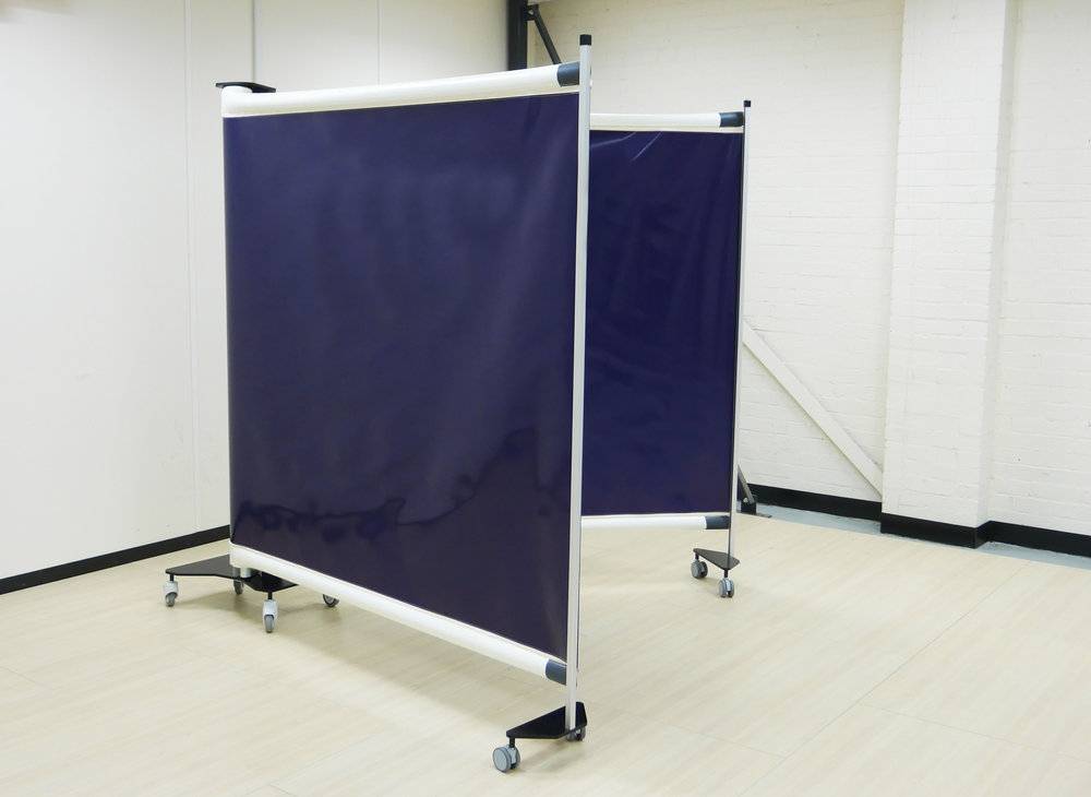 KwickScreen DUO Portable Retractable Partition Screen Tottenham Football Stadium