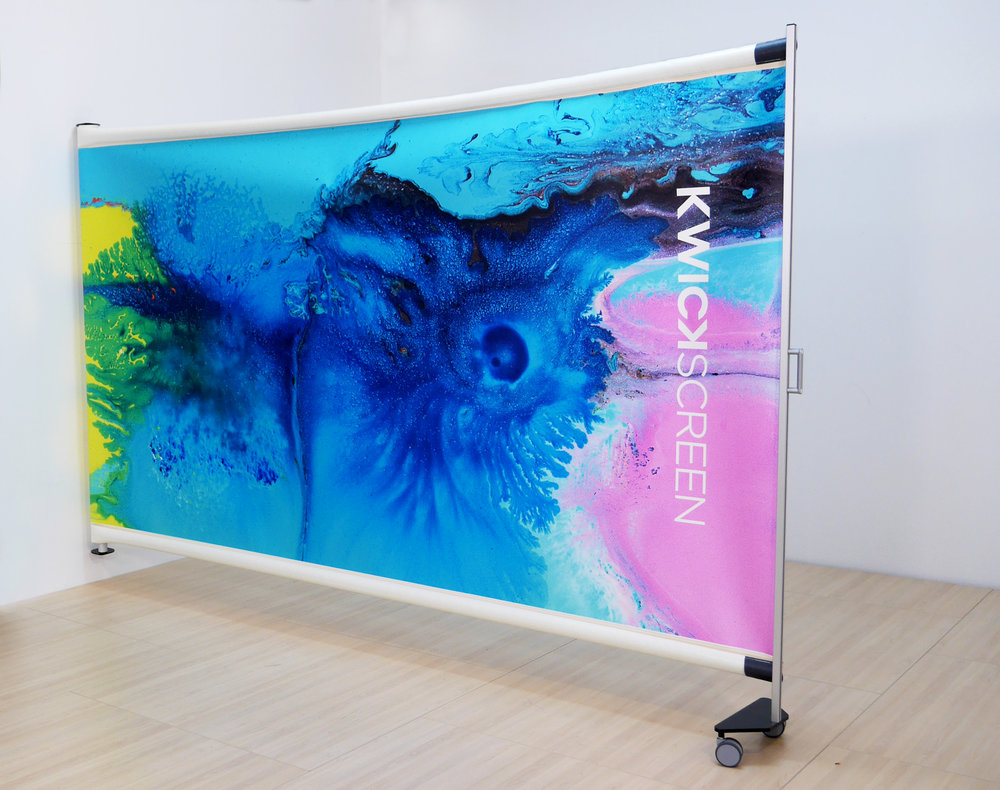 AIR - LIGHT. THIN. FLEXIBLE.Embodying all of the benefits of the Pro, the KwickScreen Air is the ultra lightweight, more flexible, fixed to wall screen.