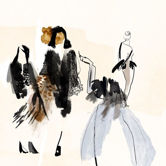 Design drawings x  #fashionillustration #watercolor #collage #design #fashion
