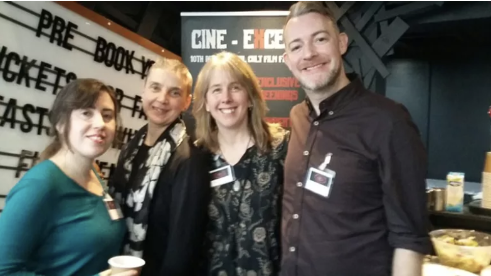 Cine Excess X Film Festival and Conference: A Decade of Excess. Roundtable panel with (l-r) Rebecca Janicker, Lorna Jowett and Stacey Abbott. See below for the abstract of the roundtable on A New Golden Age of TV Horror.