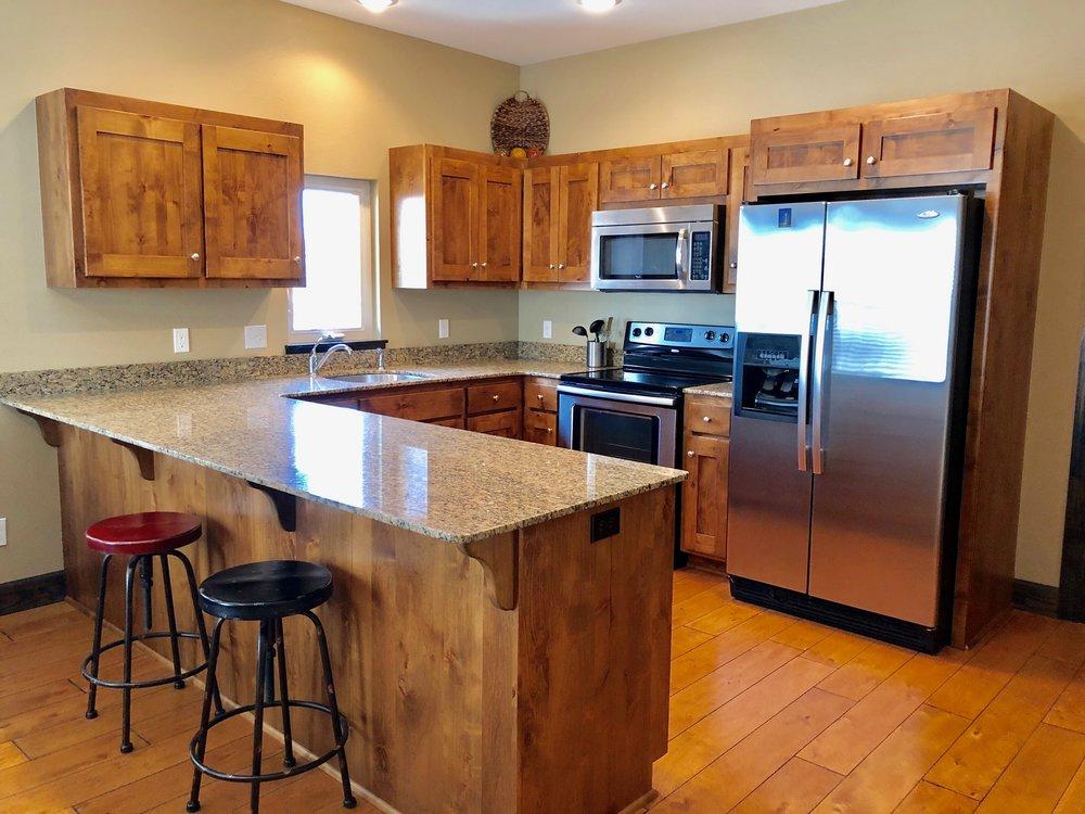 kitchen with sitting bar