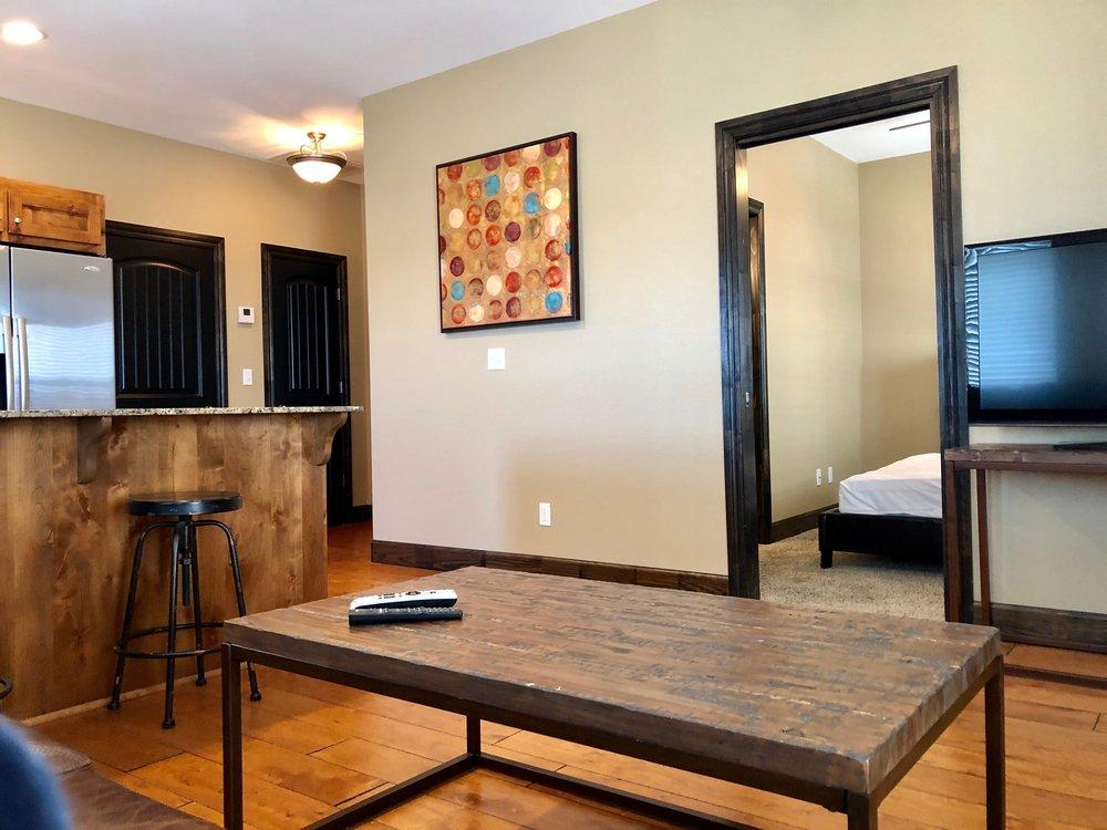 living room to bedroom