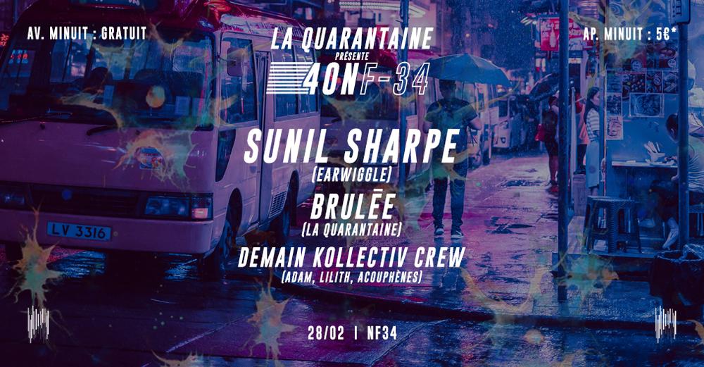 La Quarantaine présente 40NF-34 : Rave Masquée I Paris