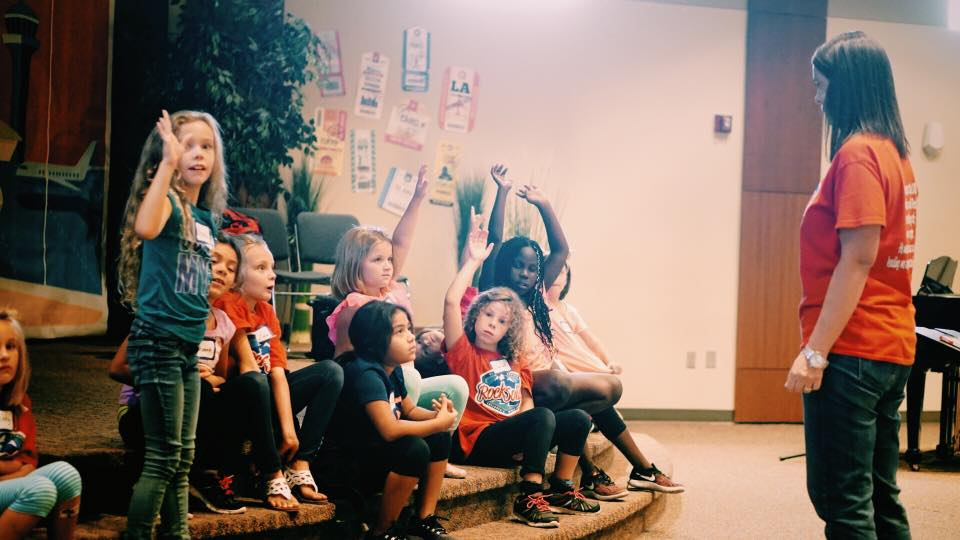Children - Loving, teaching, assisting, welcoming, playing, praying, and singing on Sundays, Wednesday nights, VBS