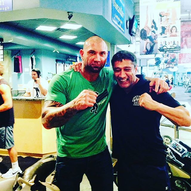 With Dave Bautista.  The picture was taken in 2012 when I was the master trainer and fitness director for one of the top two Powerhouse gyms nationally.  Dave was preparing for MMA fight guardians of the galaxy and the cover of muscle and fitness magazine.  AbawiFit is here to educate you on the benefits of health and fitness, you can find us online at Abawifit.com and all other social media platforms. Check our YouTube channel for video segments on these topics and our team of online fitness trainers hopes you have a healthy and happy day!  Pre-register on our website to download our app. Now available Apple and Android.  For more info visit our site athttps://www.abawifit.com/  Facebook:https://www.facebook.com/ABAWI-614849... Instagram:https://www.instagram.com/abawifit/ #Abawifit  @WadeAbawi  For full routines, fitness and nutrition tracker check out our app https://www.abawifit.com/download-app/  #weightlosstips  #weightlosstipsforwomen  #weightlosstransformation  #familyworkout  #familyhealth  #healthyfamilyfood  #cleaneating  #goodfood  #healthyfood  #healthyeating  #fitstagram  #healthfitness  #cardiotraining  #nutriton  #newyearresolution  #applecidervinegar  #ABAWI  #ABAWIFIT  #superfoods  #organico  #plantbased  #superfood  #bodybuildingwomen  #bodypositive  #bodybuilderstyle  #wweraw  #wwe  #davebautista
