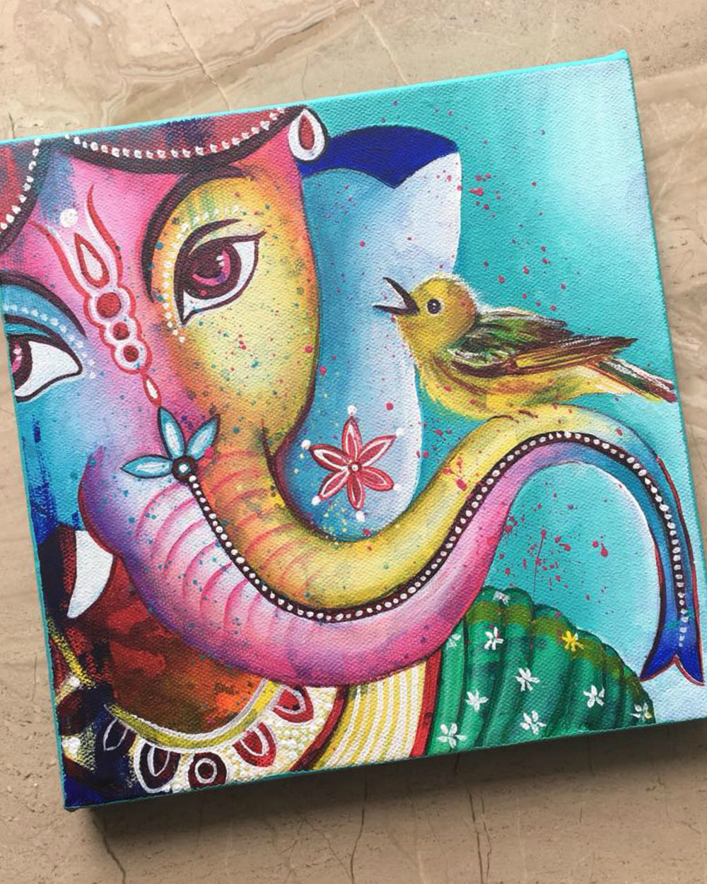 """ Ganesha with the bird """