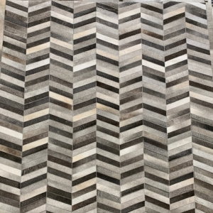 Chevron Grey Area Rug #1B
