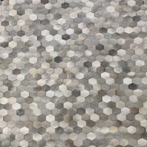 Hexagon Grey Area Rug #14