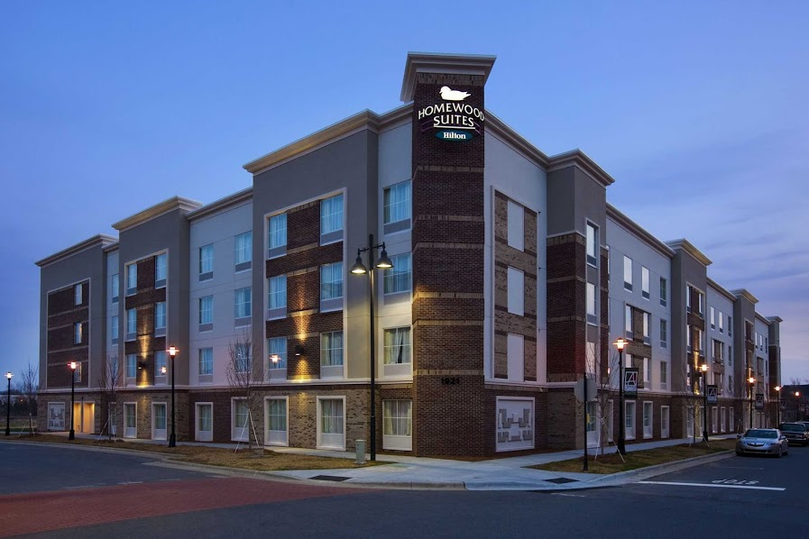 This extended-stay hotel off Interstate 485 is 10.9 miles' drive from Charlotte Douglas International Airport and 11.7 miles' drive from downtown Charlotte.