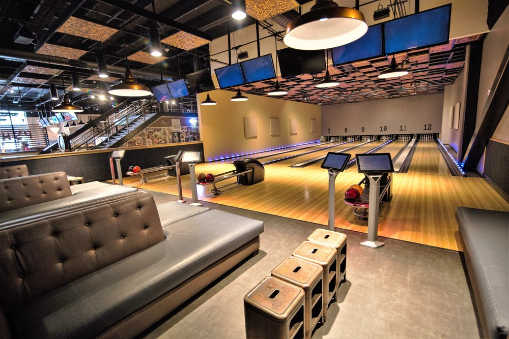 Piedmont Social House is a vibrant restaurant & event space offering elevated Southern eats & cocktails, plus bowling, billiards & other games.