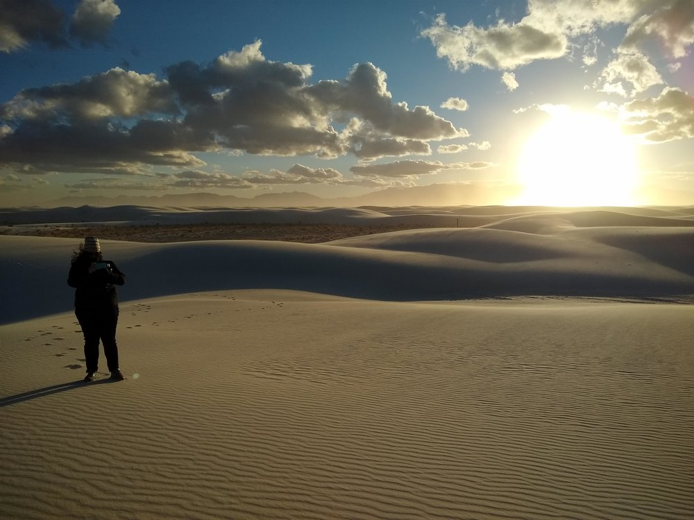 Sunset over the White Sands