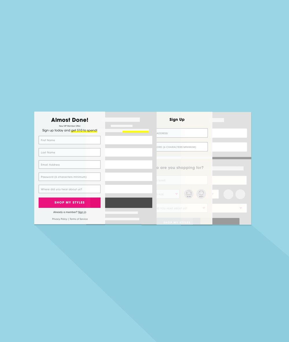 UI / Page Optimization -  Quiz Registration Page