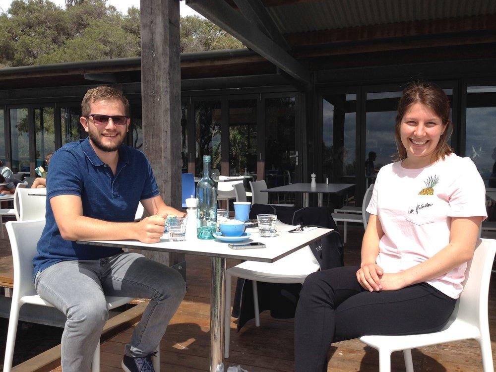 mark mcervale & wife at BB Cafe  summer shot.JPG