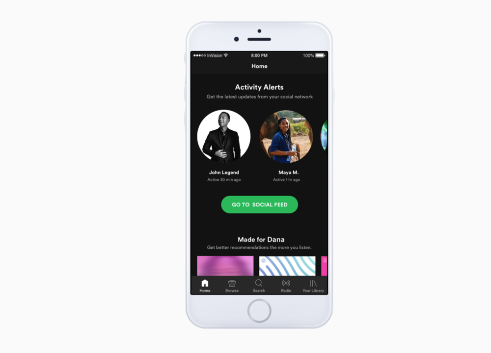 Spotify Social Feature - The creation of a social feature that seamlessly integrates into the current Spotify mobile app with a goal of improving user engagement and retention.Read More →