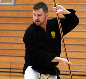 Kris Gravender, 4th Dana Karate, 4th Dan Kobudo, 1st Dan Aikido