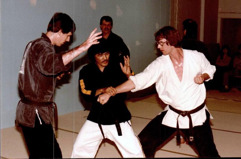 Kyoshi Jerry Wrobelewski with O'Sensei Yamashita and Kyoshi John Sorg, circa 1980's