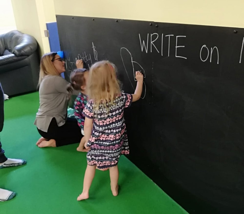 Giant Chalkboard - Come and enjoy drawing on our giant chalkboard