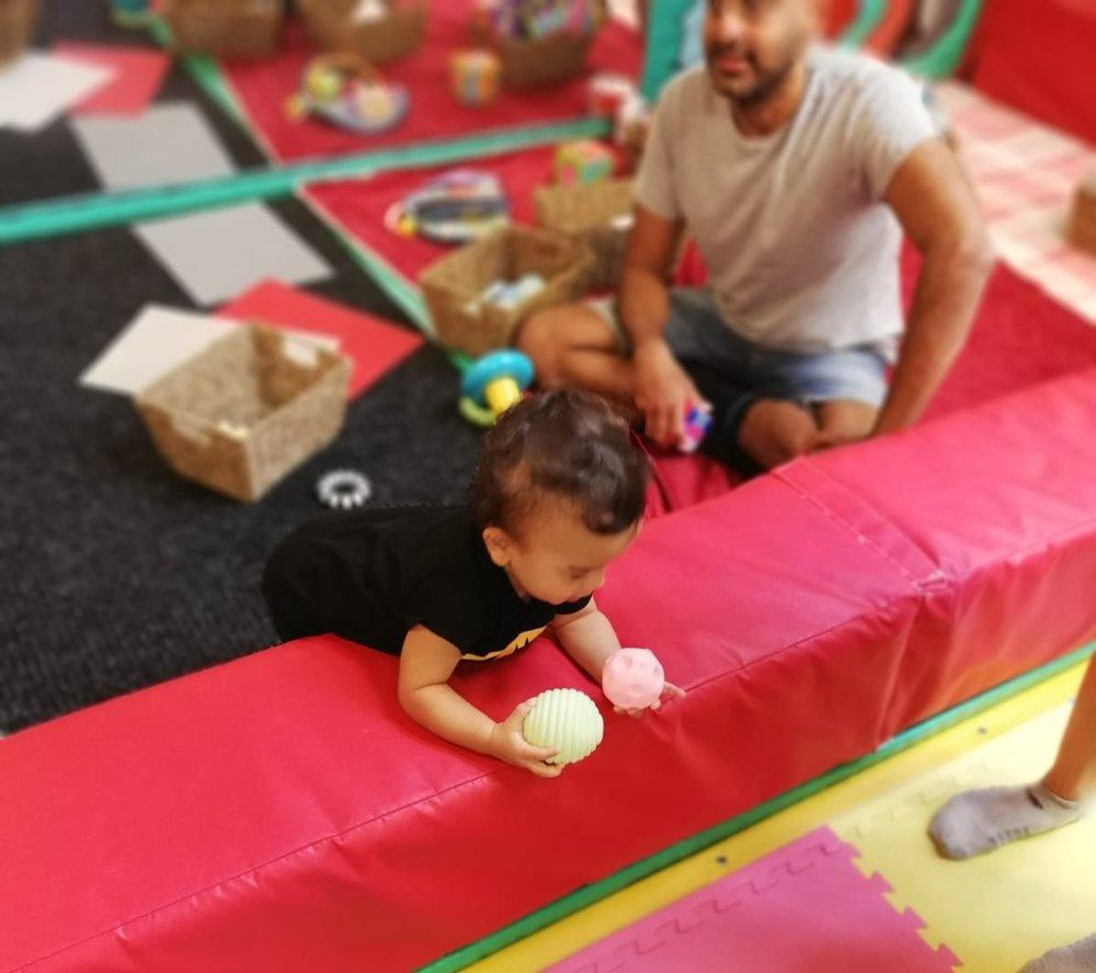 Baby Sensory - Baby area with sensory toys