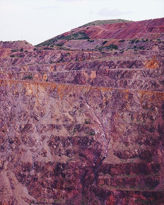 The lavender pit 💜 A strangely beautiful, honest to goodness ecological disaster right in our neighborhood, captured by @object.limited artist in residence @livesstyled 📷 • #photography #miningtown #mineral #color #colorsoftheearth