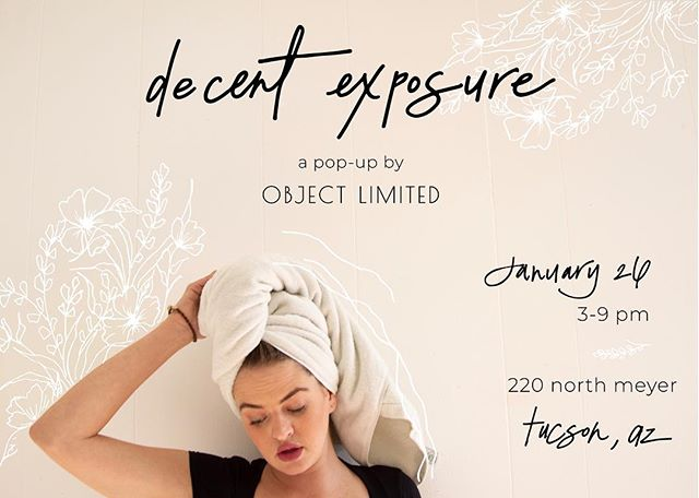 We're beaming a special assortment of natural beauty and apothecary goods to Tucson for this event at the Old Pueblo home base of @object.bisbee 💫 Come spend an evening with us and some of our favorite creators and collectors, Saturday 1/26 from 3-9  PM 💛 Flyer image model @hanahroseklein shot by @jackiesterna, illustrated by @brookejbenjamin
