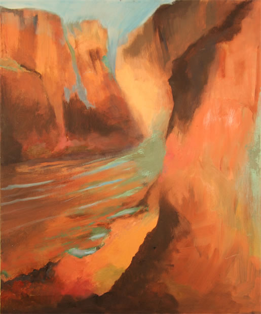 "Below The Rim Oil 18"" x 24"""