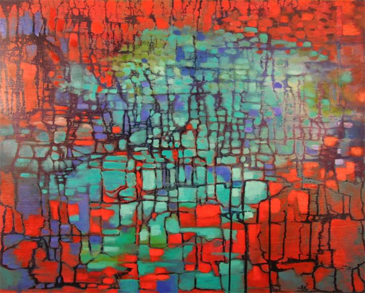 """Autumn Lake Oil 30"""" x 24"""""""