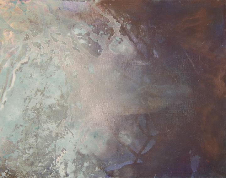 "Plunge Oil/Acrylic 9"" x 12"""
