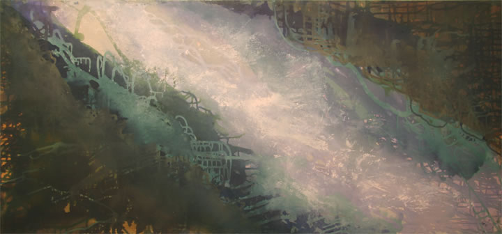 """Waters Of March Acrylic 28"""" x 60"""""""