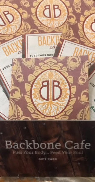 Backbone Cafe Gift Cards Available For Purchase