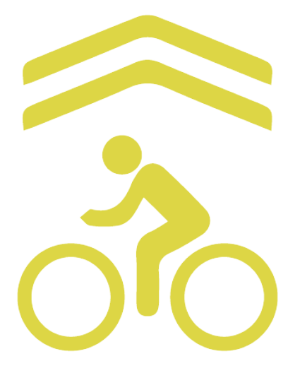 The shared lane marking, or Sharrow, is used across our region to indicate areas where cyclists will be driving on the right-hand edge of the lane or driving in the full lane.