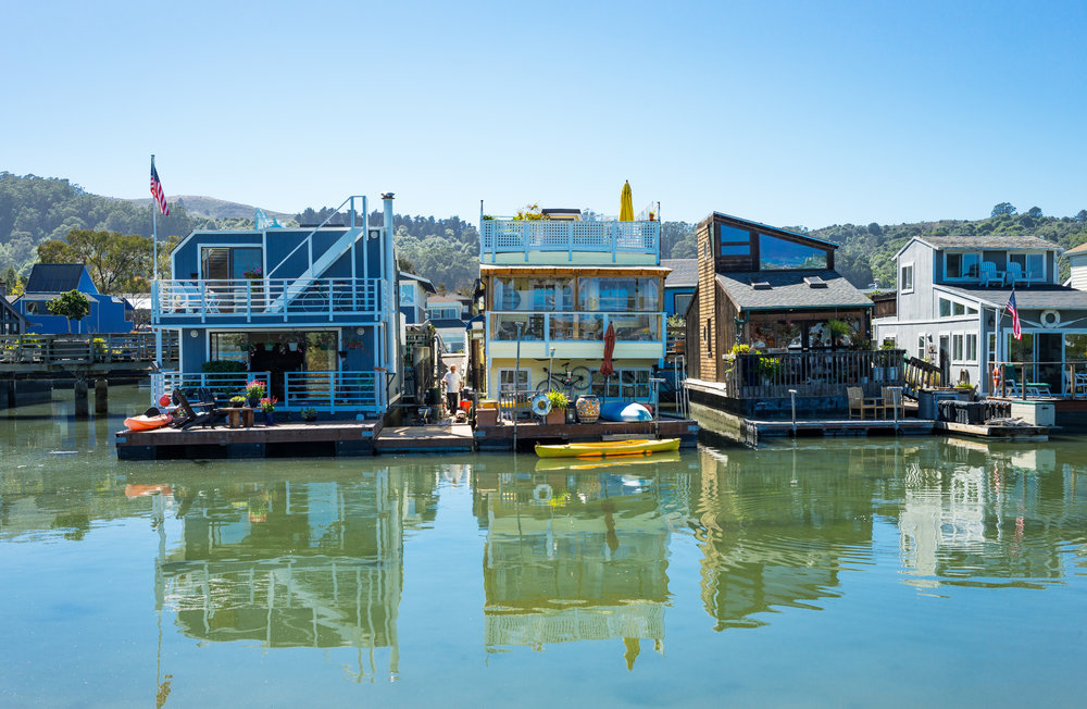 Float your boat at one or all of the houseboat docks in Sausalito.