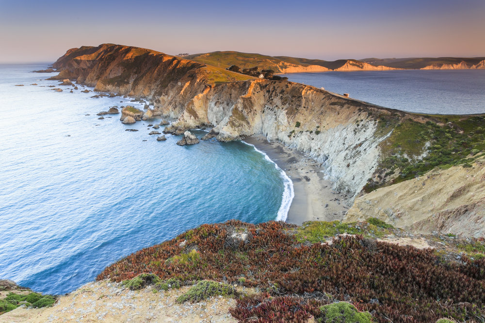 Tomales Point Trail in Point Reyes National Seashore.
