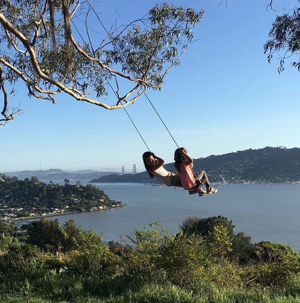 The hippie swing in Tiburon is a special spot!