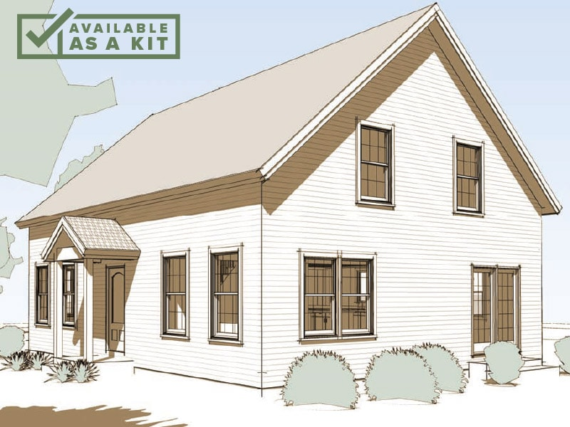 The Harrisville - 3 Bedrooms, 1.5 Baths, 2,080 sq ft(Footprint: 28' X 36')The beautiful spaciousness you'd expect in a quality timber frame home, but with room to regroup. Split your loyalties between quiet time and places to socialize.Details