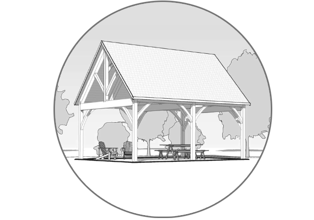 Outdoor Living Kits - You don't have to move to add the space you need. Whether you want a summer kitchen, a place to commune with nature or a home for all your family's cars, we have an addition or outbuilding for you! A pavilion, pool house, or other structure promises more living space with tasteful timber frame design.