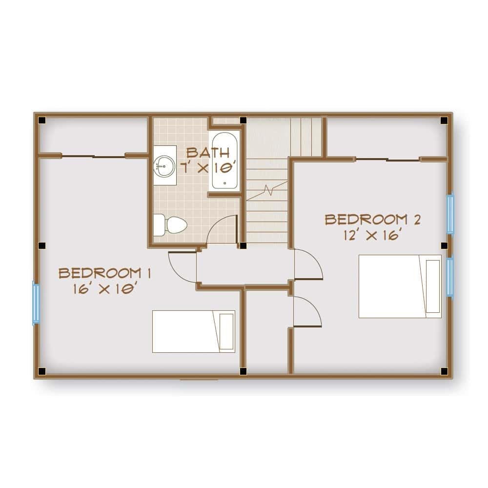 2nd Floor w/ 2 Bedrooms