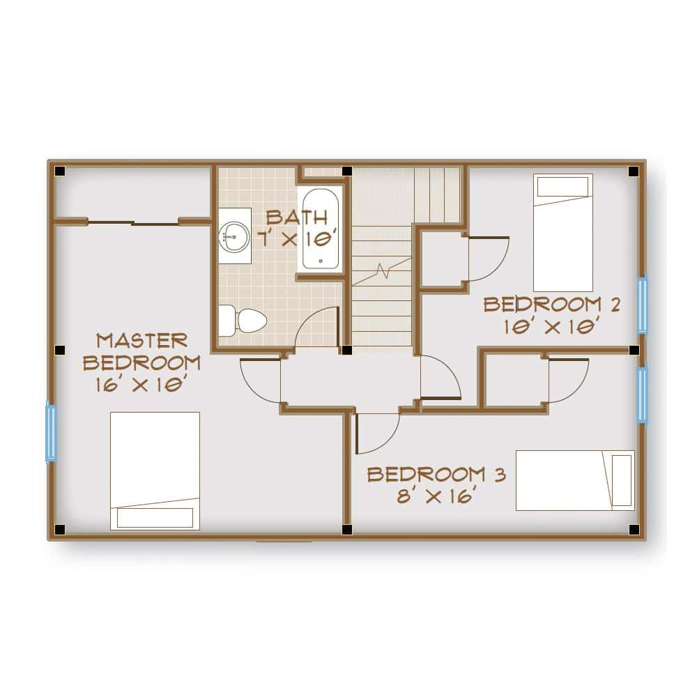 2nd Floor w/ 3 Bedrooms