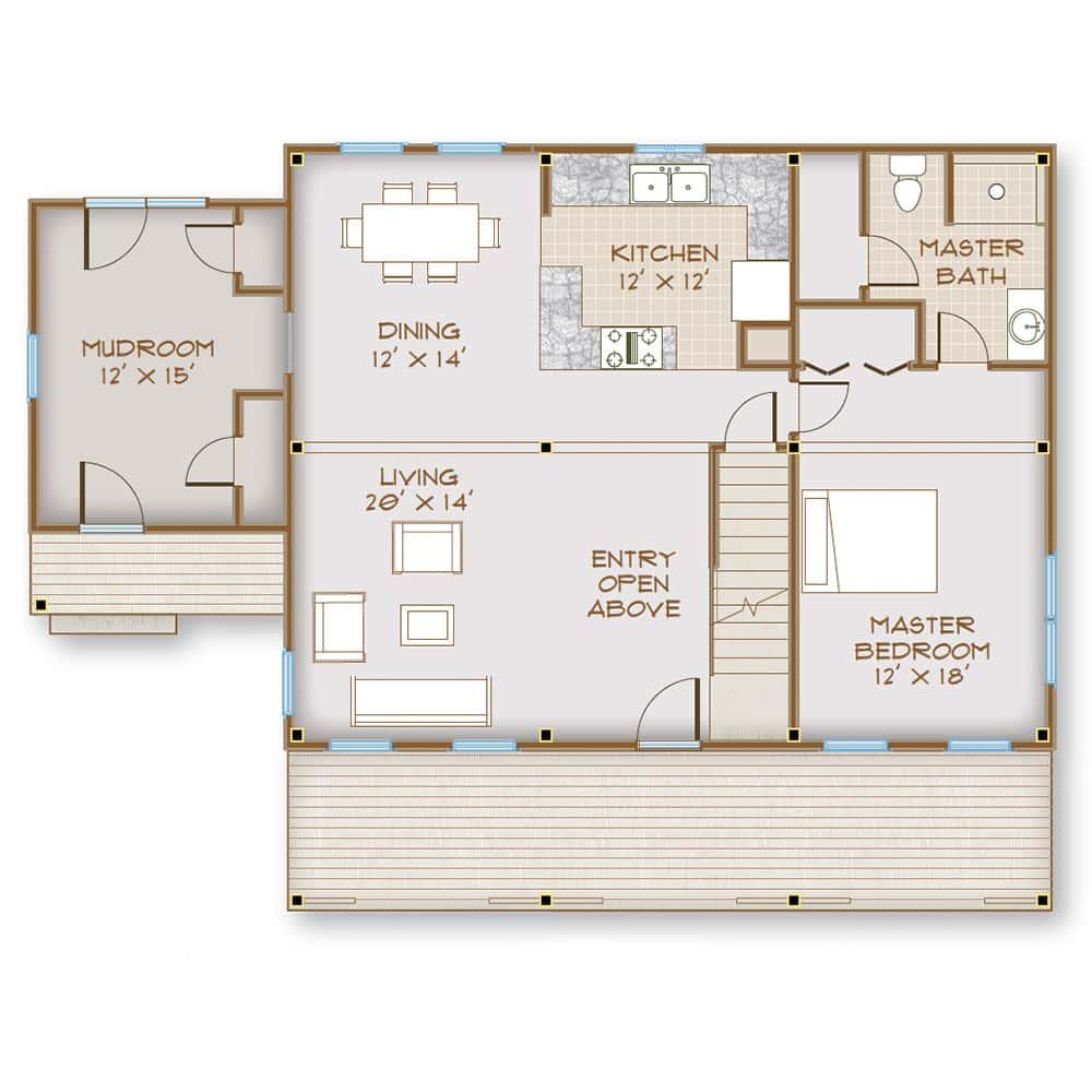 Main Floor w/ Optional Mudroom